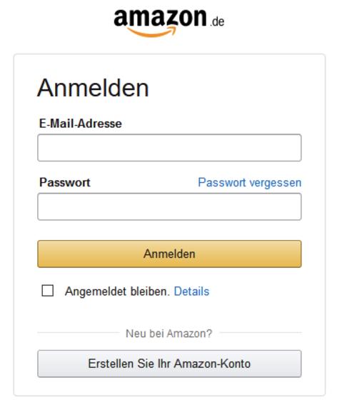Amazon Anmeldung Phishing