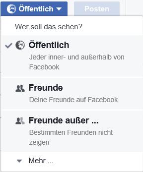Facebook Freundesliste öffentlich