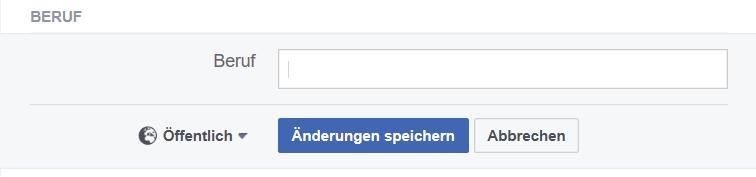 Facebook Beruf hinzufügen