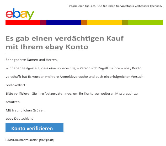 Ebay Phishing Mail
