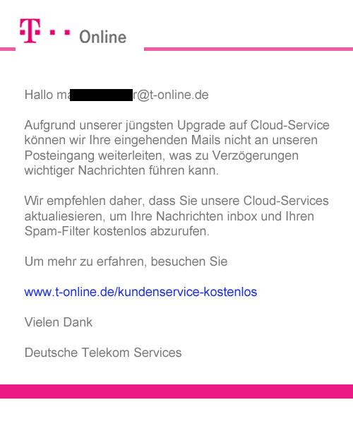 t-online phishing mail